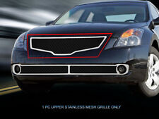 Black Mesh Grille Main Upper Grill For 2007 2008 2009 Nissan Altima