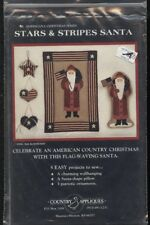 Country Appliques Sewing Pattern STARS & STRIPES SANTA QUILT~PILLOW~ORNAMENTS UC