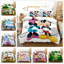 3D Disney Mickey Mouse Minnie Duvet Cover Bedding Set Pillowcase Comforter Cover