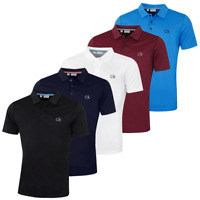 Calvin Klein Mens 2019 CK Central Chest Logo Wicking Golf Polo Shirt 33% OFF RRP