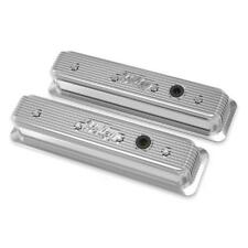 Holley Engine Valve Cover Set 241-248; Polished for Chevy 262-400 SBC