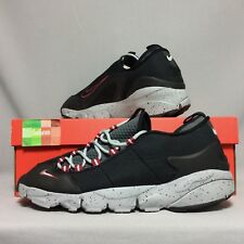 Nike Air Footscape NM UK10 852629-001 EUR45 US11 Black Wolf Grey Red bred