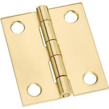 "25 Pk Solid Brass 1 1/4"" W X 1 1/2"" H Jewelry Box Chest Broad Hinge 2/Pk N211359"
