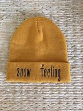 Zara Stunning Mustard Yellow Knitted Hat