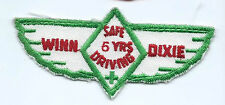 Winn Dixie 5 years safe driving driver patch 2 X 4-1/4 #1021
