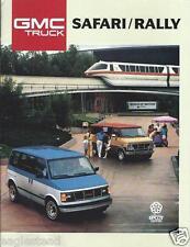 Truck Brochure - GMC - Safari Rally - Van - c1988 (T1106)