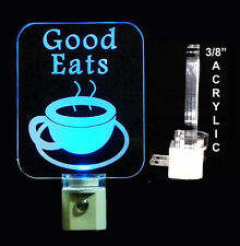 Personalized Coffee Cup LED Night Light - Lamp, Handmade, Love