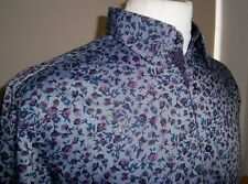 "In A1 Condition  Mens AUTOGRAPH Floral Print Shirt - Size 15"" Collar / 38 PURPLE"