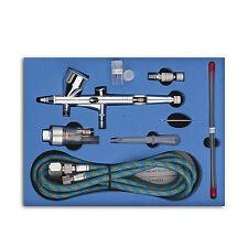 Dual Action Airbrush Pistole AirbrushPistole Schlauch+Düsen Komplett Set SP180K