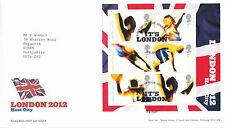5 AUGUST 2005 LONDON 2012 MINIATURE SHEET ROYAL MAIL FIRST DAY COVER LONDON E15z