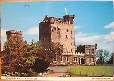 Irish Postcard Knappogue Castle Airplane Flag Clare Ireland D Noble John Hinde