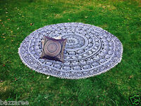 Indian Mandala Round Tapestry Throw Hippie Picnic Beach Blanket Yoga Mat Boho UK