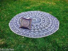 Indian Mandala Round Tapestry Throw Hippie Picnic Beach Blanket Yoga Mat Boho UK