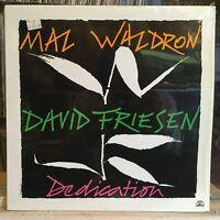 [JAZZ]~NM LP~MAL WALDRON~DAVID FRIESEN~Dedication~[1988~SOUL NOTE~ITALY IMPORT]~
