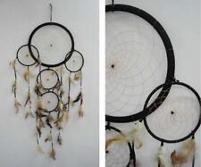 HUGE round BLACK 36 INCH DREAMCATCHER feather bead handmade LARGE dream catcher