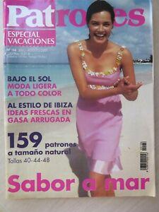 MAGAZINE REVISTA PATRONES n 186 ESPECIAL VACACIONES JULIO-AGOSTO 2001