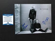 Aimee Mann & Ted Leo signed autographed 8x10 Photo Beckett BAS cert