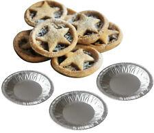 50 x Small Foil Pie Dishes Mince Jam Tart Tarts Pies Patty Tins Round Dish Pans