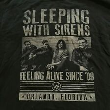 SLEEPING WITH SIRENS band T-shirt Size L Large band photo