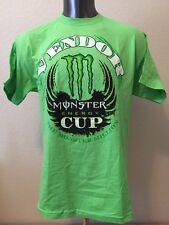 Monster Energy Cup THE MONSTER MILLION Vendor Tee Shirt Neon Green Men's Lg