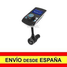 Transmisor FM Cargador Mechero Coche MP3 Manos Libres Bluetooth Doble USB a3015