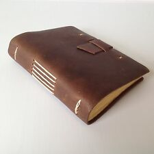 RUSTICO Good Book Leather Journals Diary Notebook Journal Gift Buckle Dark Brown