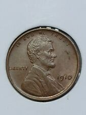 1910 Philadelphia Mint Copper Lincoln Wheat Cent