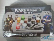 Warhammer 40K Games Workshop Paints + Tools Set 13 paints 12ml clippers brush