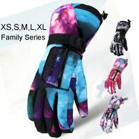1 Winter Warm Ski Gloves Waterproof Snowboard Snowmobile Motorcycle Mittens Tech