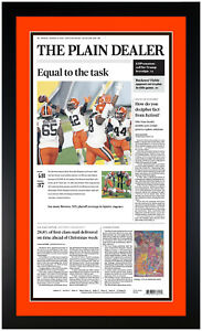 Cleveland Browns Framed Newspaper Reprint 1/11 First Playoff Road Win Since 1969