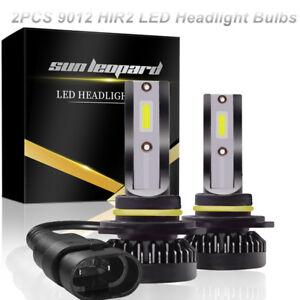Pair Car 9012 HIR2 LED Headlight Bulbs High /Low Beam Kit 72W 6000K COB LED Chip