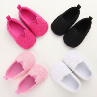 Infant Kids Baby Girl Crib Shoes Newborn Knitted Floral Flat Soft Sole Prewalker