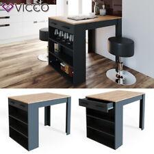Bartisch REPOSE Tresen Tisch Regal Bistrotisch Schublade Eiche Anthrazit VICCO
