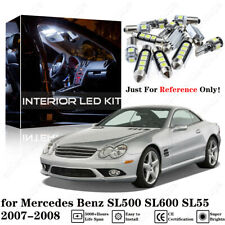 16× White Interior LED Light Kit for Mercedes Benz SL500 SL600 SL55 2007-2008