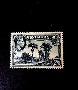 montserrat 1943 SG109a P14 M/M GVI 2/6 Slate Blue