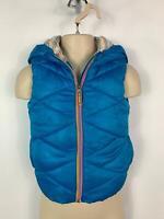 GIRLS NEXT BLUE GILET BODY WARMER HOOD CASUAL COAT JACKET KIDS AGE 3/4 YEARS