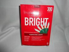 300 Lights Indoor or Outdoor Clear Mini Lights Green Wire Steady or Flashing