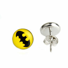 BATMAN BATMAN STAINLESS STEEL POST Stud Earrings  USA SELLER