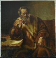 Fine Antique Late 19th / Early 20th Century Oil On Canvas Painting REMBRANDT