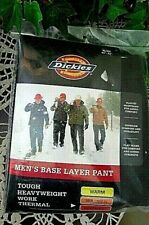 Dickies Thermal Long Johns heavy weight Base-layer pants Workwear Black-xlrg-nwt
