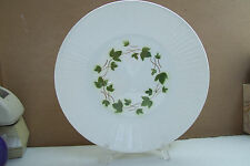 """Rare CERANORD FEUILLES D'AUTOMNE 10"""" Green Ivy Embossed Rim Dinner Plate FRANCE"""
