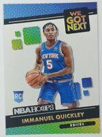 2020-21 Panini NBA Hoops We Got Next Immanuel Quickley Rookie RC #25, Insert