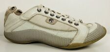 Diesel Womens Parker Tan Blue Leather Athletic Sneakers Shoes Lace Up Size 7