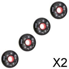 2X 4 Pieces Inline Roller Hockey Fitness Skate Replacement Wheel 84A 72mm Black