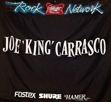 "HUGE Joe ""King"" Carrasco Stage Banner / Miller Rock Network from 1985 TEX MEX"