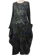 Geblümte Langarm Damenkleider mit Rundhals-Ausschnitt