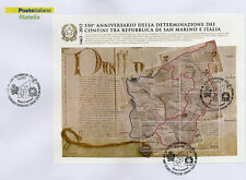 2013 550° anniversario definizione confini con Italia - Italia - FDC