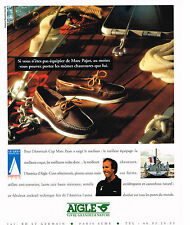 PUBLICITE ADVERTISING   1992   AIGLE  chaussures   AMERICA'S cup  MARC PAJOT