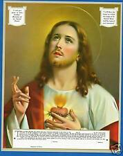 """Catholic Print Picture ENTHRONEMENT of the SACRED HEART 8x10"""" ready to frame"""