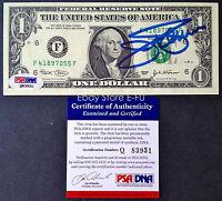 JIM PALMER Signed Crisp $1 Dollar Bill Blue Auto PSA/DNA COA Autograph Orioles